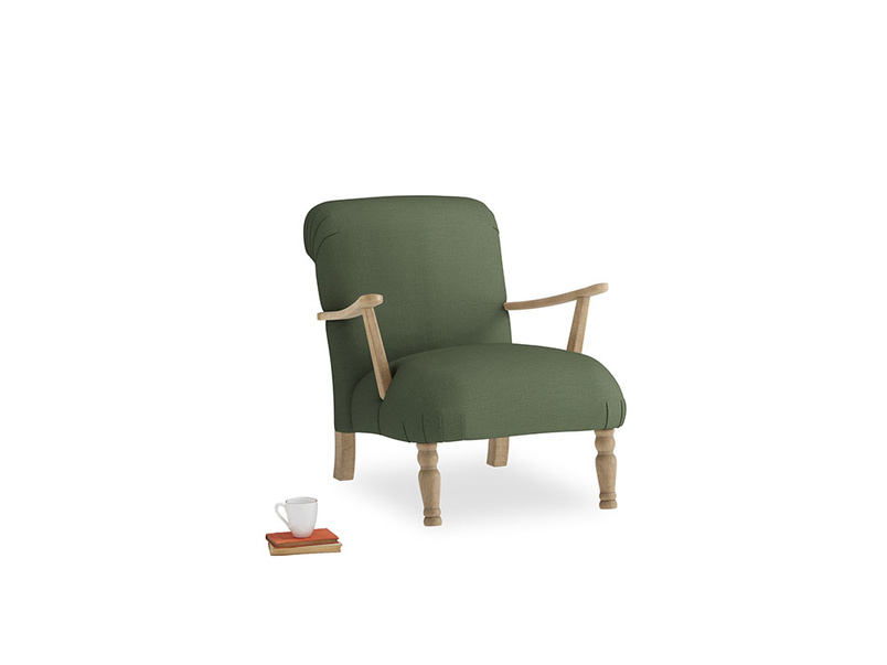 Brew Armchair in Forest Green Clever Linen