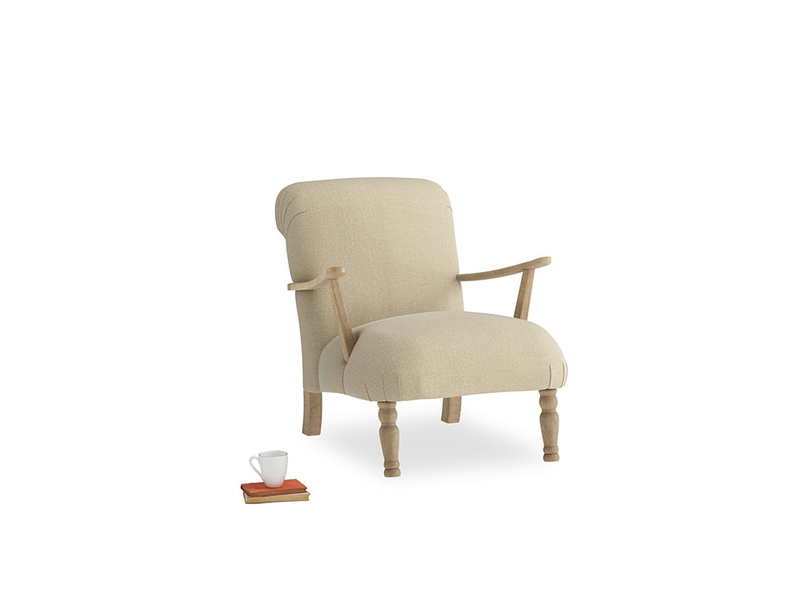 Brew Armchair in Hopsack Bamboo Softie
