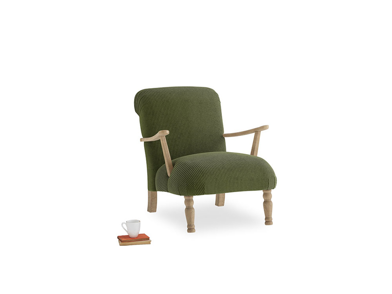 Brew Armchair in Leafy Green Clever Cord