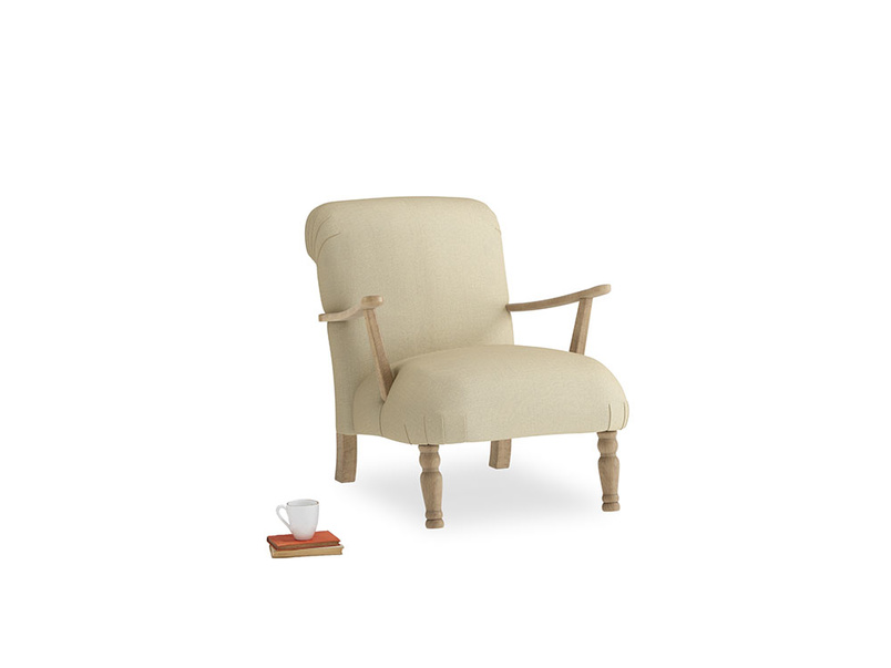 Brew Armchair in Parchment Clever Linen