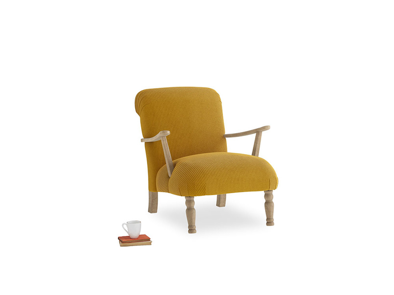 Brew Armchair in Saffron Yellow Clever Cord