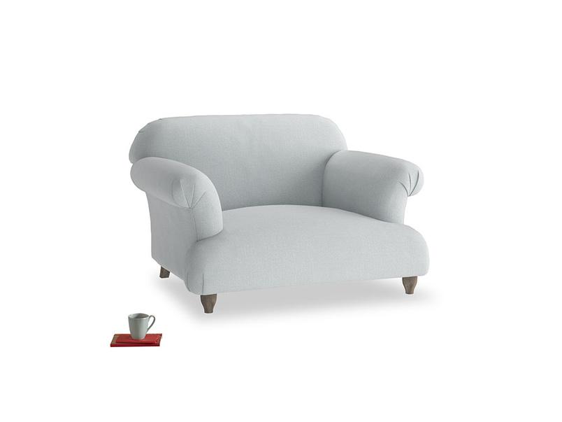 Soufflé Love seat in Gull Grey Bamboo Softie