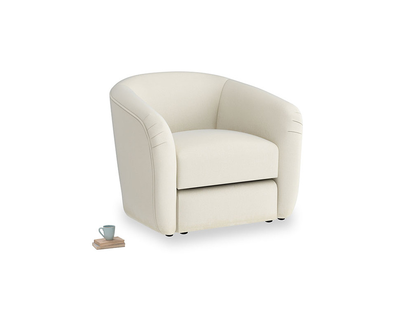 Tootsie Armchair in Alabaster Bamboo Softie
