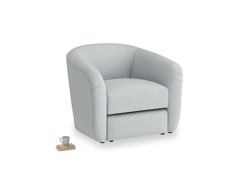 Tootsie Armchair in Gull Grey Bamboo Softie
