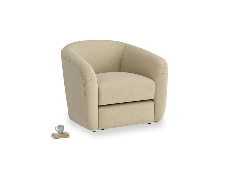 Tootsie Armchair in Hopsack Bamboo Softie