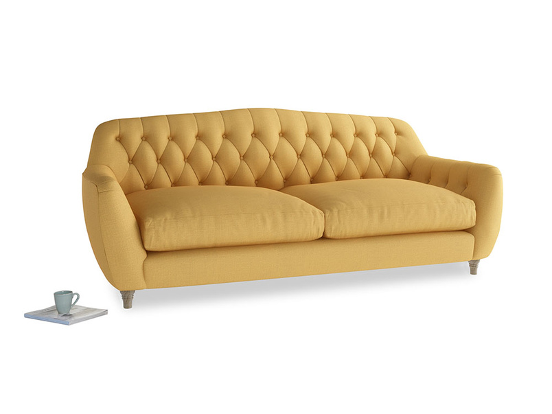 Large Butterbump Sofa in Dorset Yellow Clever Linen