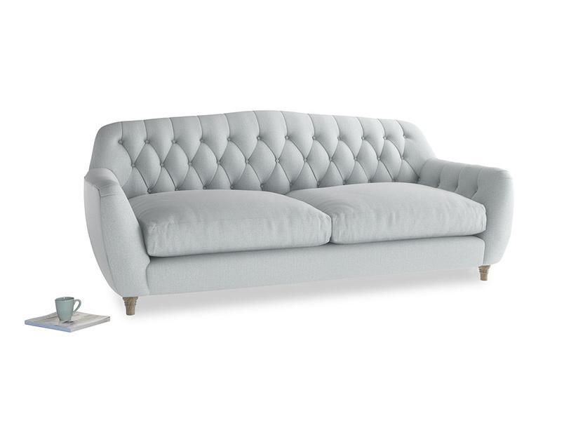 Large Butterbump Sofa in Gull Grey Bamboo Softie