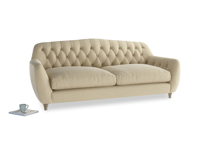Large Butterbump Sofa in Hopsack Bamboo Softie