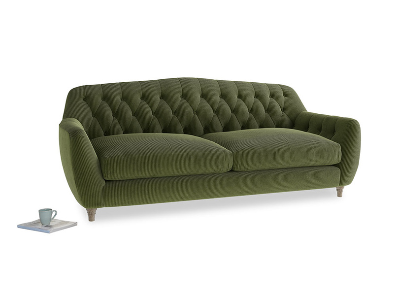 Large Butterbump Sofa in Leafy Green Clever Cord