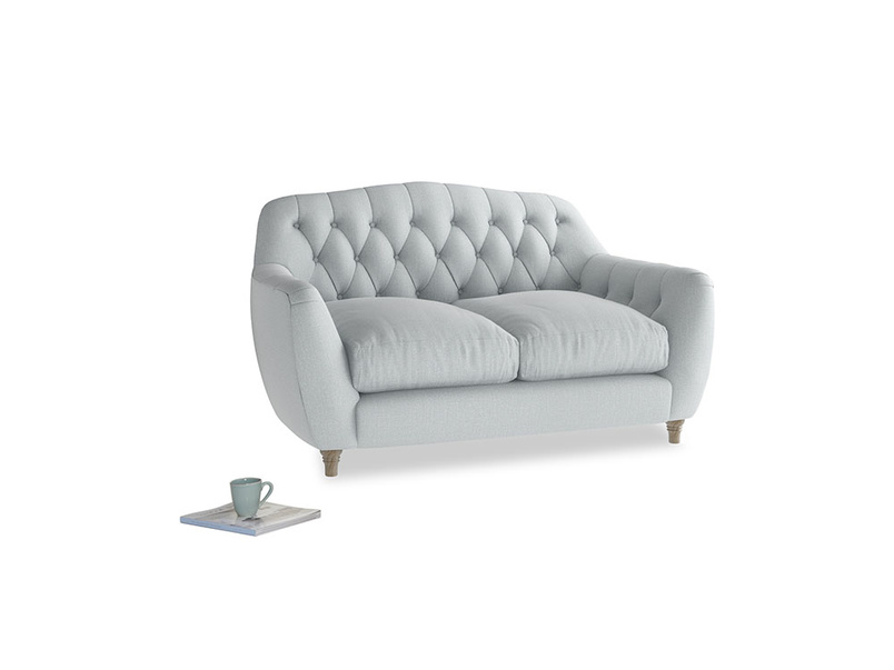 Small Butterbump Sofa in Gull Grey Bamboo Softie