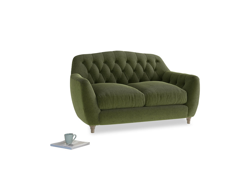 Small Butterbump Sofa in Leafy Green Clever Cord