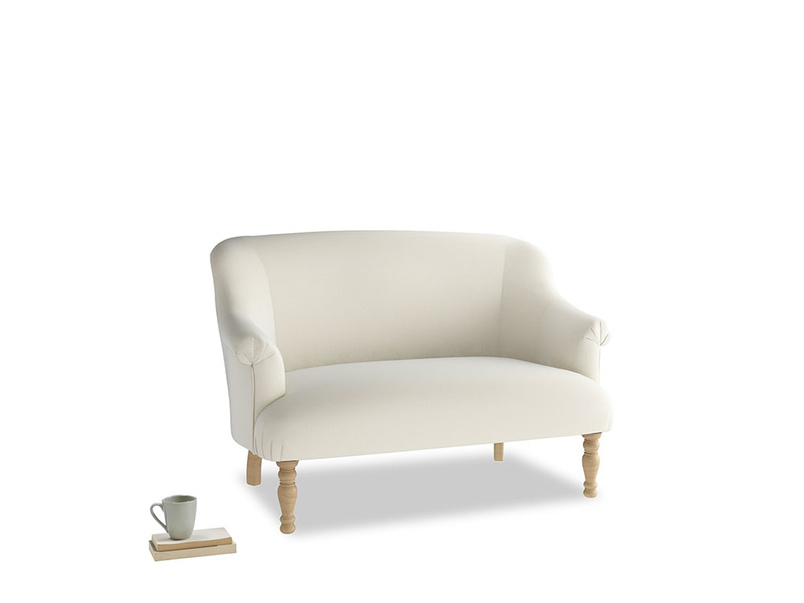 Small Sweetie Sofa in Alabaster Bamboo Softie