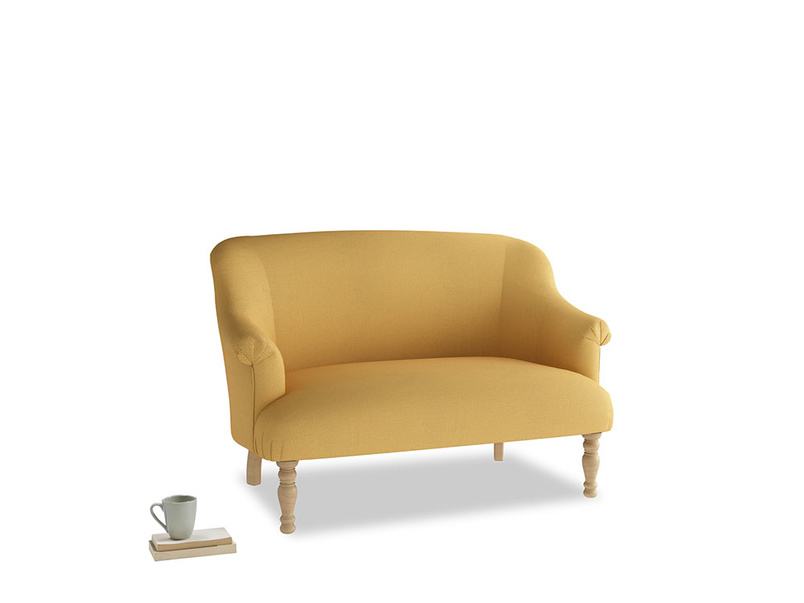 Small Sweetie Sofa in Dorset Yellow Clever Linen