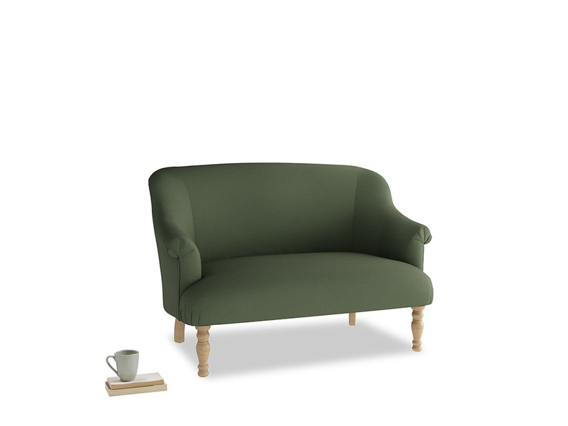 Small Sweetie Sofa in Forest Green Clever Linen