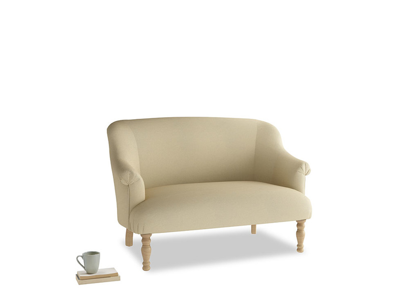 Small Sweetie Sofa in Parchment Clever Linen