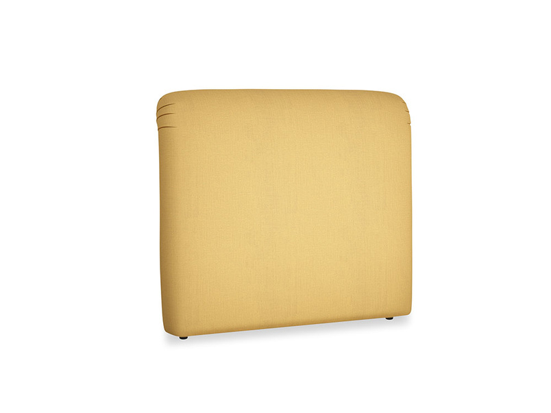 Double Cookie Headboard in Dorset Yellow Clever Linen