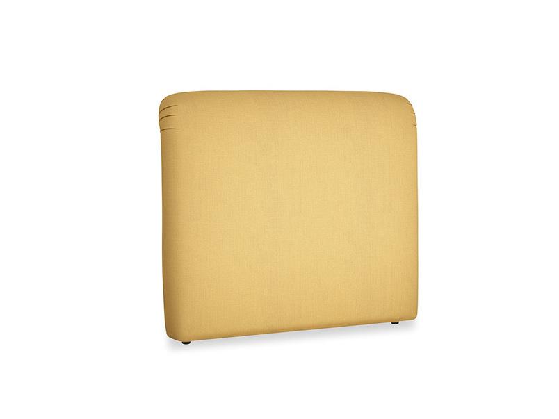 Double Cookie Headboard in Dorset Yellow Clever Linen