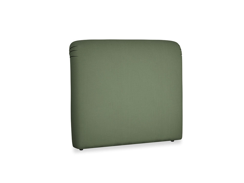Double Cookie Headboard in Forest Green Clever Linen