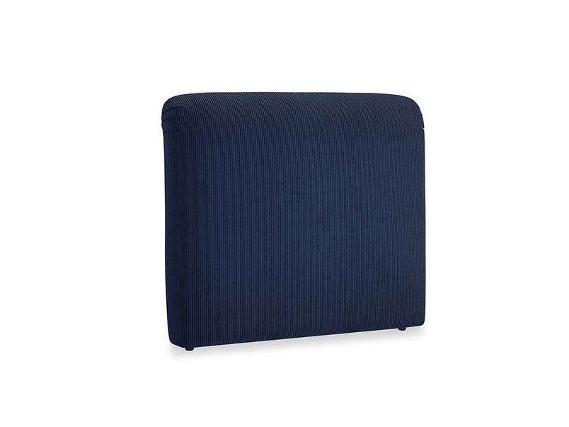 Double Cookie Headboard in Indian Blue Clever Cord