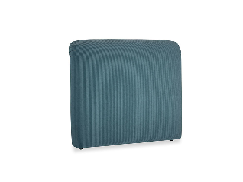 Double Cookie Headboard in Lovely Blue Clever Cord