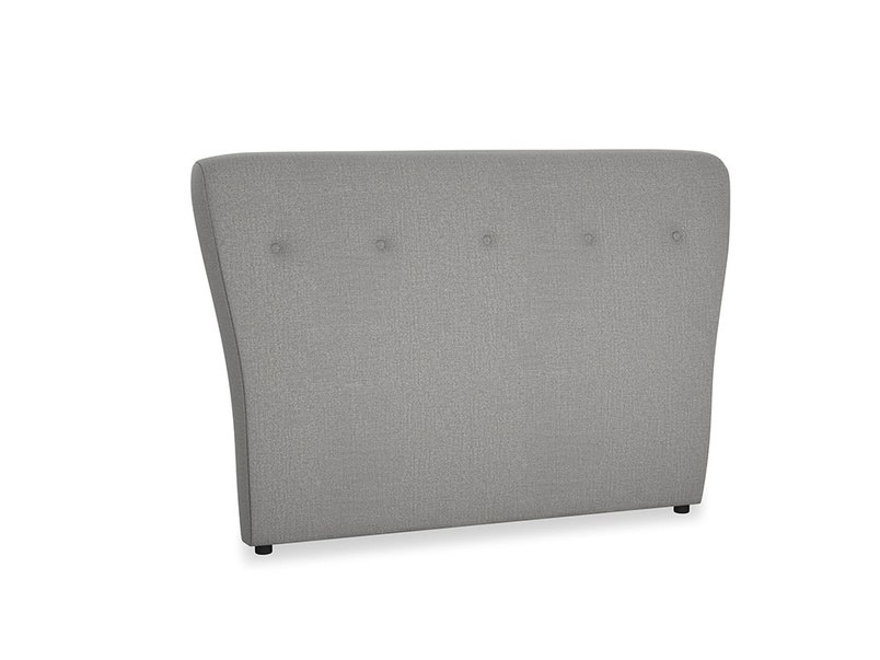 Double Smoke Headboard in Cloudburst Bamboo Softie