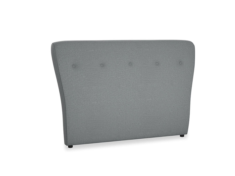 Double Smoke Headboard in Cornish Grey Bamboo Softie