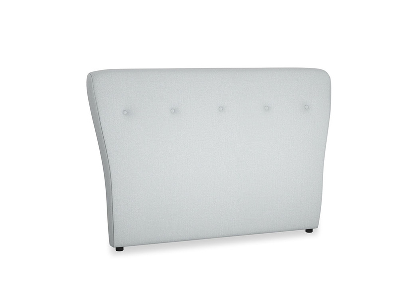 Double Smoke Headboard in Gull Grey Bamboo Softie