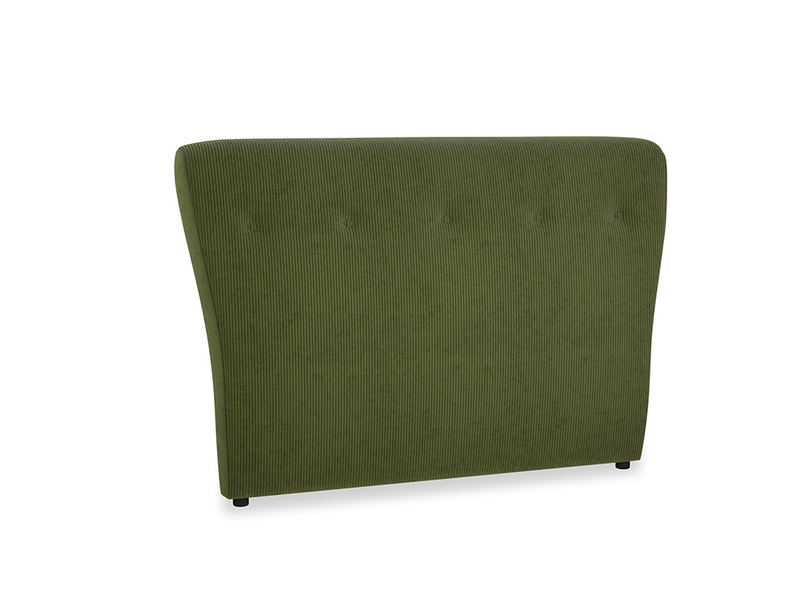 Double Smoke Headboard in Leafy Green Clever Cord