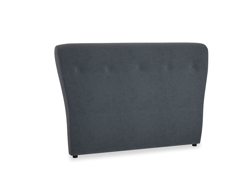 Double Smoke Headboard in Scandi grey Clever Cord