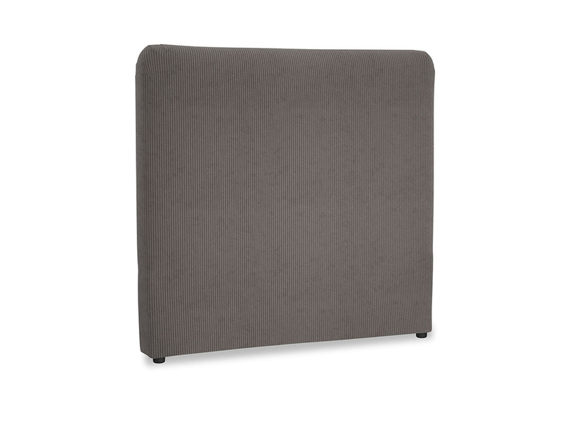 Double Ruffle Headboard in Everyday Grey Clever Cord