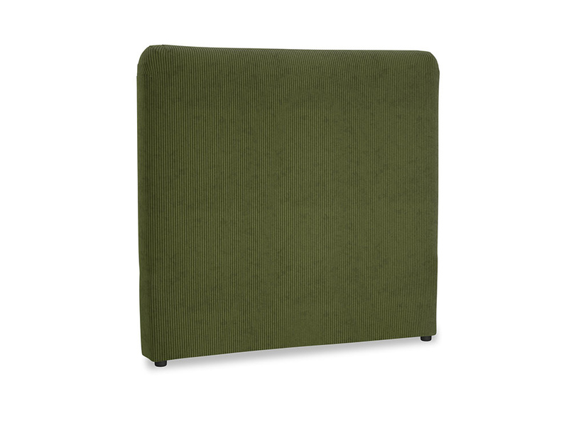 Double Ruffle Headboard in Leafy Green Clever Cord