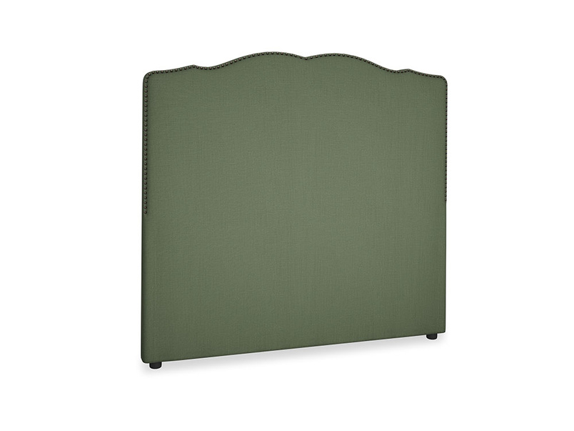Double Marie Headboard in Forest Green Clever Linen