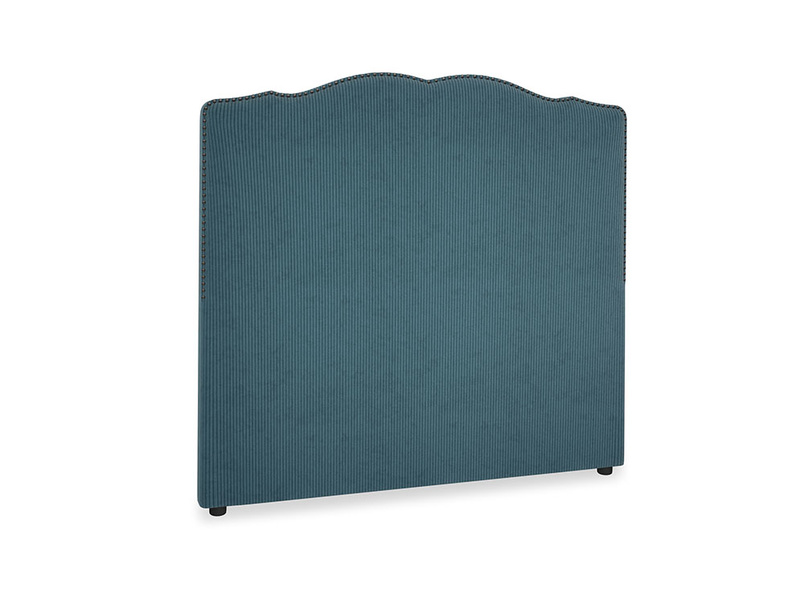 Double Marie Headboard in Lovely Blue Clever Cord