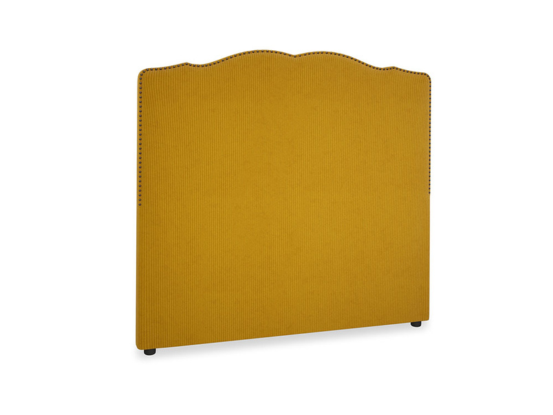 Double Marie Headboard in Saffron Yellow Clever Cord