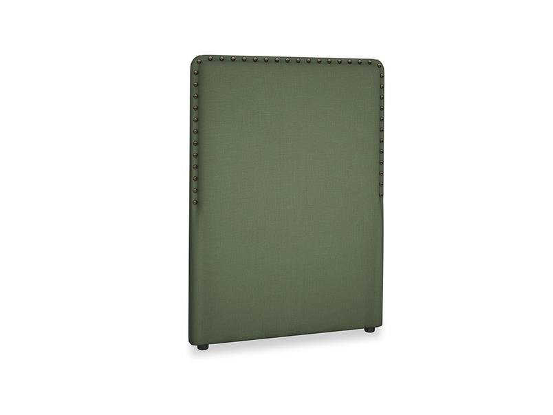 Single Smith Headboard in Forest Green Clever Linen