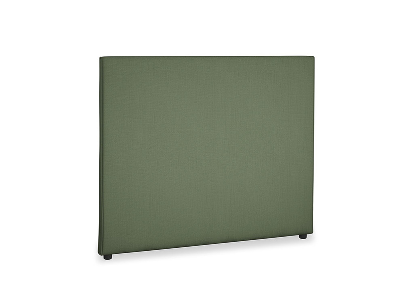 Double Piper Headboard in Forest Green Clever Linen
