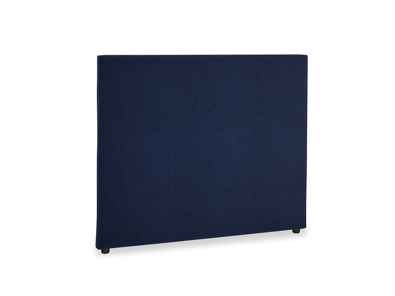 Double Piper Headboard in Indian Blue Clever Cord