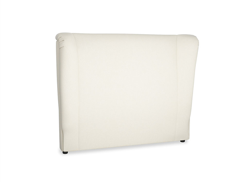 Double Hugger Headboard in Alabaster Bamboo Softie