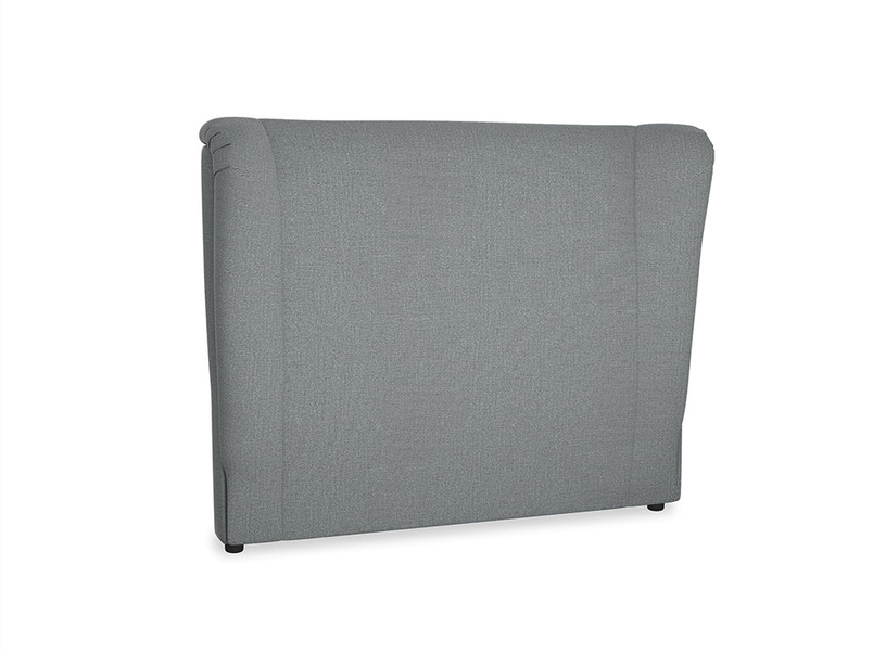 Double Hugger Headboard in Cornish Grey Bamboo Softie