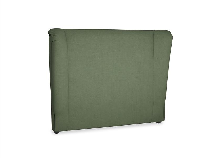 Double Hugger Headboard in Forest Green Clever Linen