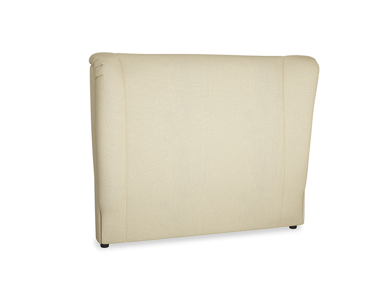 Double Hugger Headboard in Parchment Clever Linen
