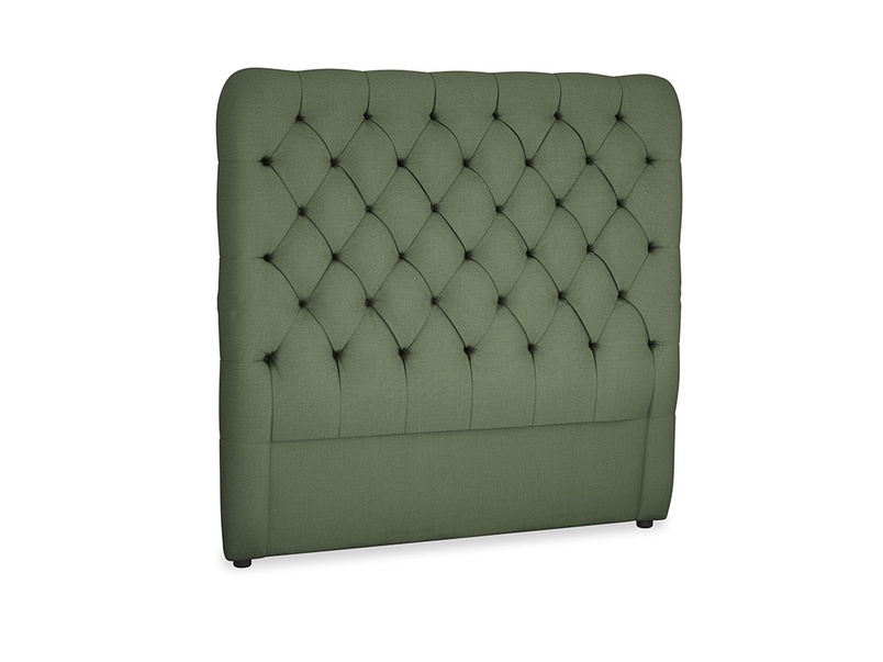 Double Tall Billow Headboard in Forest Green Clever Linen