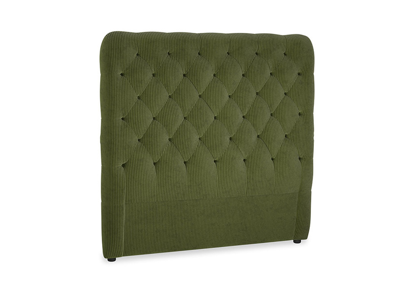 Double Tall Billow Headboard in Leafy Green Clever Cord