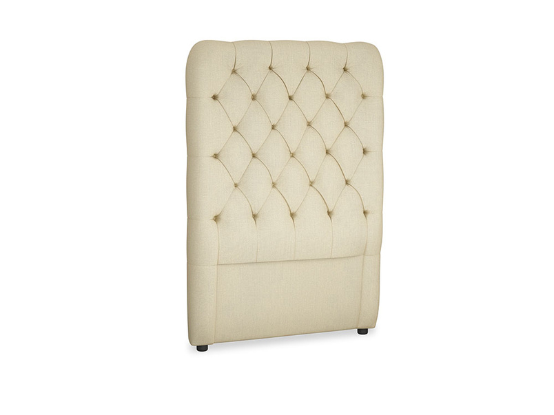 Single Tall Billow Headboard in Parchment Clever Linen
