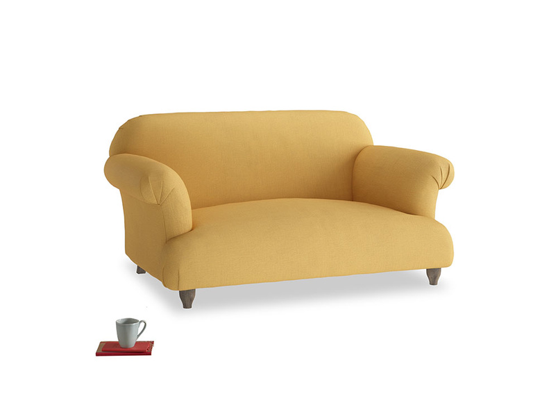 Small Soufflé Sofa in Dorset Yellow Clever Linen