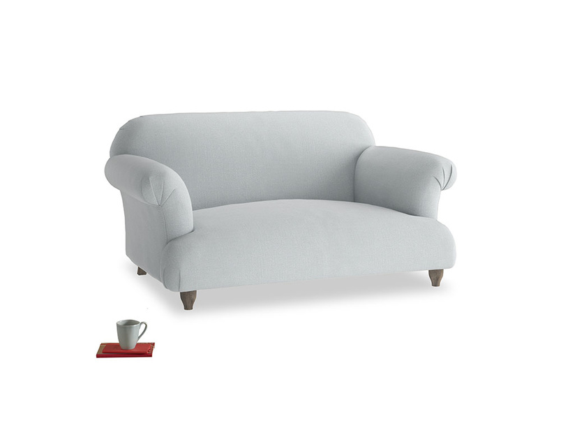 Small Soufflé Sofa in Gull Grey Bamboo Softie