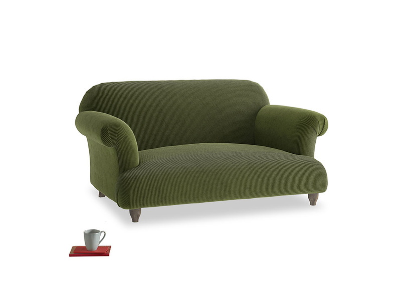 Small Soufflé Sofa in Leafy Green Clever Cord