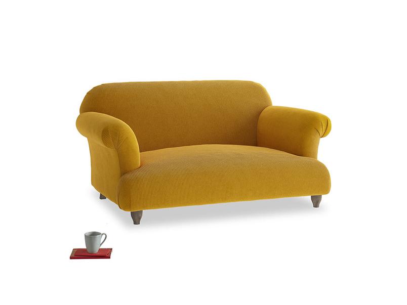 Small Soufflé Sofa in Saffron Yellow Clever Cord