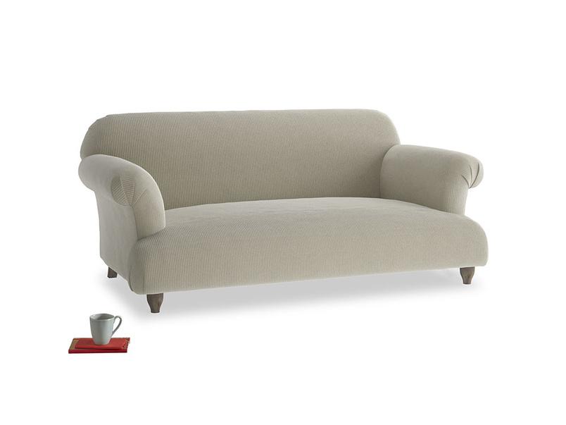 Medium Soufflé Sofa in Blighty Grey Clever Cord