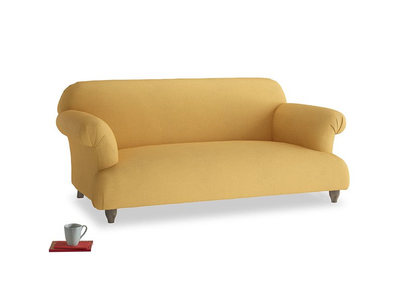 Medium Soufflé Sofa in Dorset Yellow Clever Linen